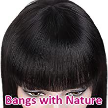 Natural bangs