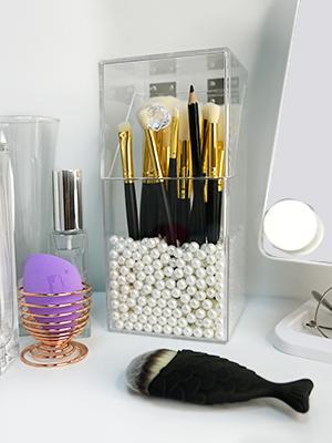 acrylic makeup brushes holder