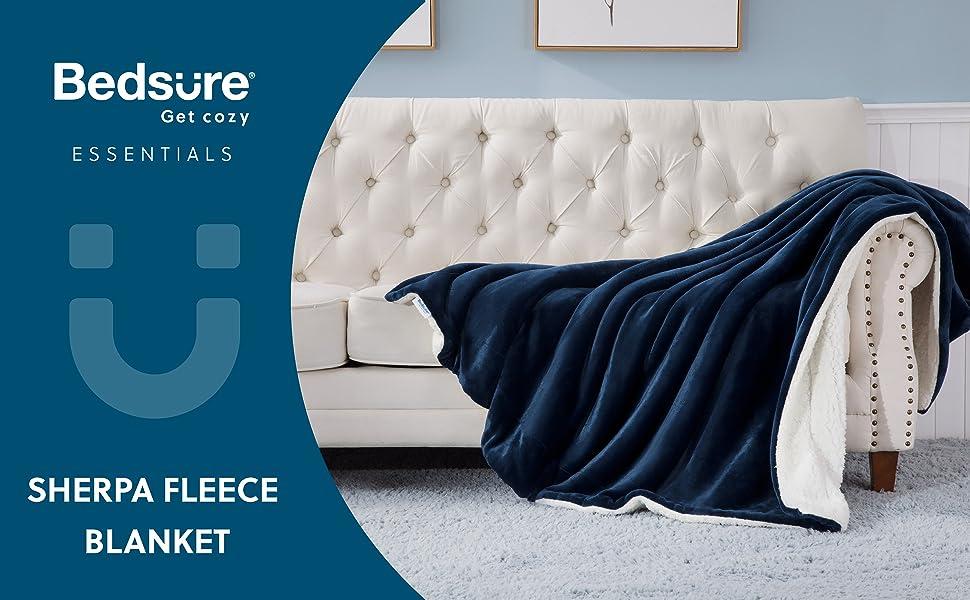 Bedsure get cozy essentials Sherpa Fleece Blanket.