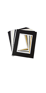 golden state art 8x10 for 5x7 double mat mix colors bevel cut white core for photo print