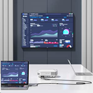 uni Cable USB C a HDMI, Cable USB Tipo C a HDMI (Compatible con Thunderbolt 3) hasta 4K, Compatible con iPad Pro 2018, MacBook, Samsung S20, Surface Pro 7, Huawei p40, Mate