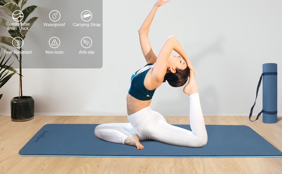 yoga mat workout mat for yoga