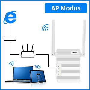 BeWlaner Repetidor WiFi, 300Mbps Extensor WiFi, Amplificador WiFi 2.4GHz con Repertidor/Ap Modo y la función WPS, 1 Puerto Fast Ethernet Wireless ...