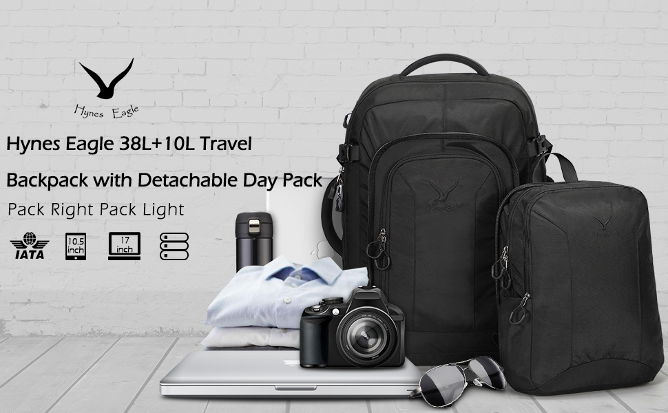 Travel Backpack with Detachable Day Pack