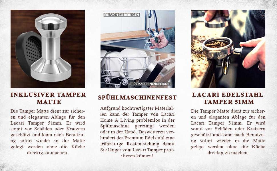 New Coffee Tamper Stainless Steel 51mm N4H7