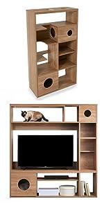 猫家具 テレビラック シェルフキャットウォーク 猫 多頭飼い 壁面テレビ台 テレビ収納 AVラック ペットハウス 猫ハウス 猫インテリア おしゃれ 24型 32型 37型 40型 50型