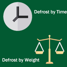 Defrost by Time and by Weight