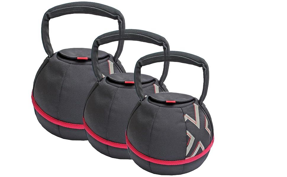 GYMBOX® Bolsa de Arena/Pesas Rusas/Kettlebell/Fitness Bag/Power Bag   Entrenamiento Muscular/Funcional/de Pesas Libres   Puede Estar llenado con Arena ...