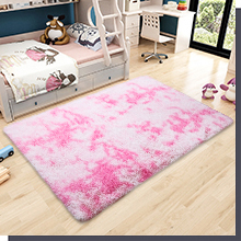 fluffy abstract rug