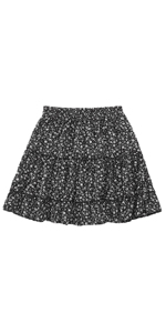 Women Floral Print Mini Skirt