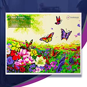 butterflies flowers flora day large plot prime set easel board numbered christmas gift mother's