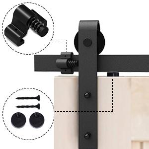 Schuifdeur systeem mat zwart