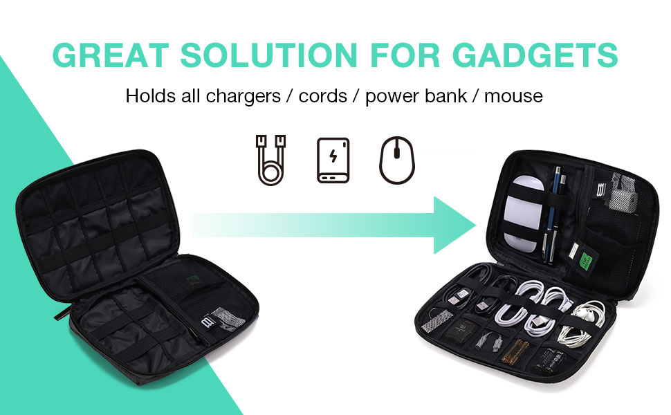 electronic bag organiser cable bag accessories organizer small carry case travel pouch storage bag