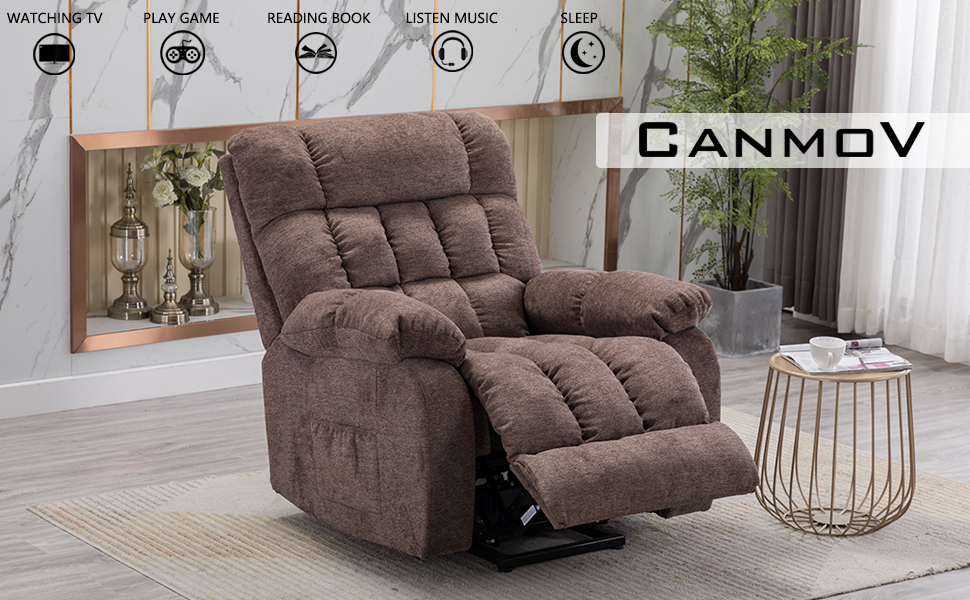CANMOV Power Massage Lift Recliner Chair with Heat & Vibration for Elderly
