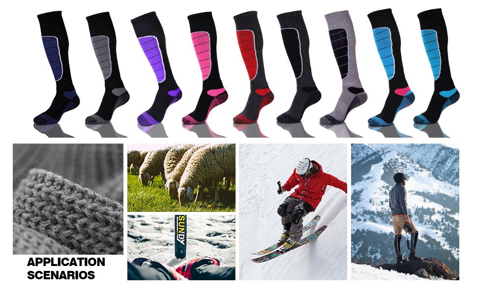 knee high snow socks
