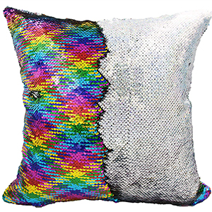 RAINBOW SEQIN PILLOW