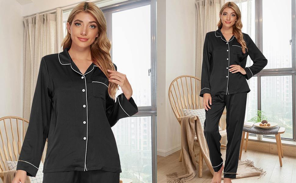 Button down pajamas for women