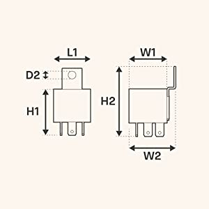 40/30A Bosch Style 5-Pin Relay Kit Size Chart