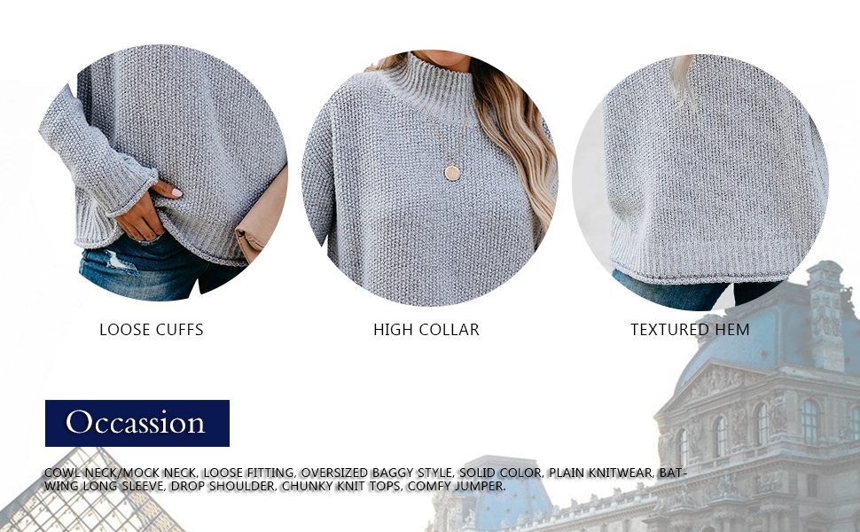 loose oversized fall comfy pullover sweaters