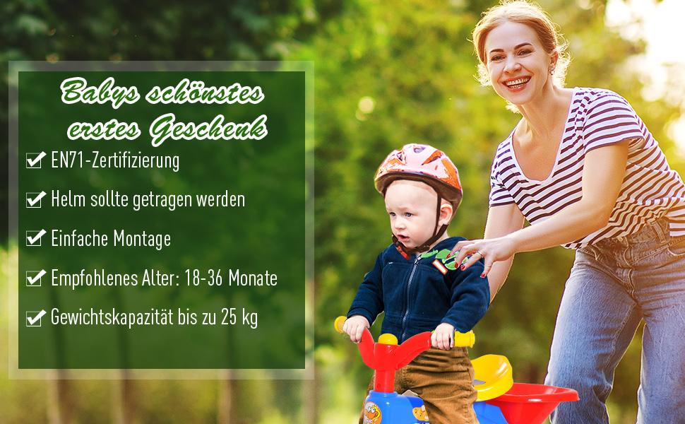 Kinderdreirad Dreirad Kinder Fahrrad Kinderfahrzeug Rad Lufthorn