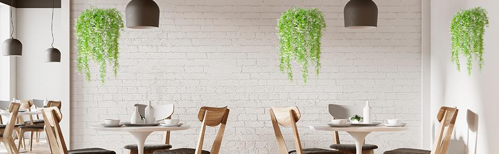 artificial plants hanging