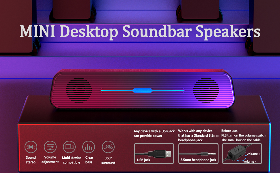 computer soundbar speakers