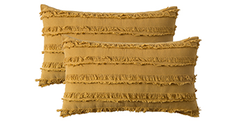 MIULEE Corduroy Soft Soild Decorative Square Throw Pillow Covers Set