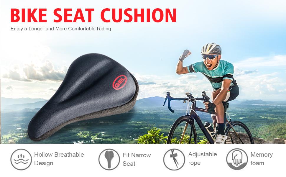 Men Women Bike Seat Saddle Cover Bicycle Cycling Padding BMX 3D Gel Cushion