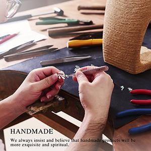 A craftsman inlays ring