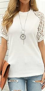 lace short sleeve t-shirt