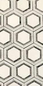 carrara and thassos hexagon tile