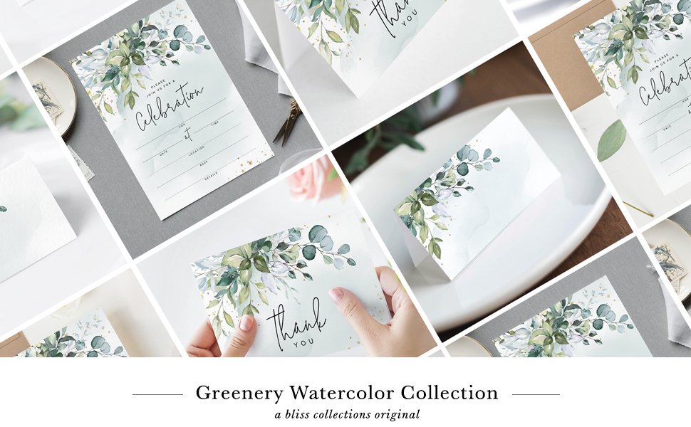 Greenery Watercolor Collection — Bliss Collections