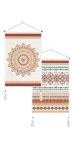Bohemian Geometric Mandala Tapestry