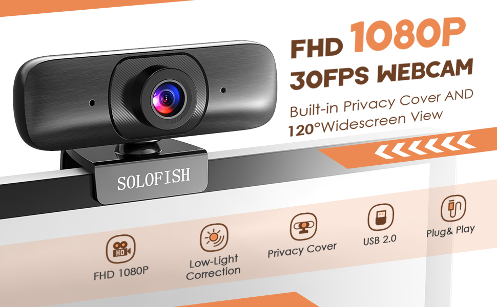 FHD webcam with dual microphone