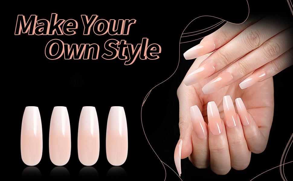 coffin fake nail tips