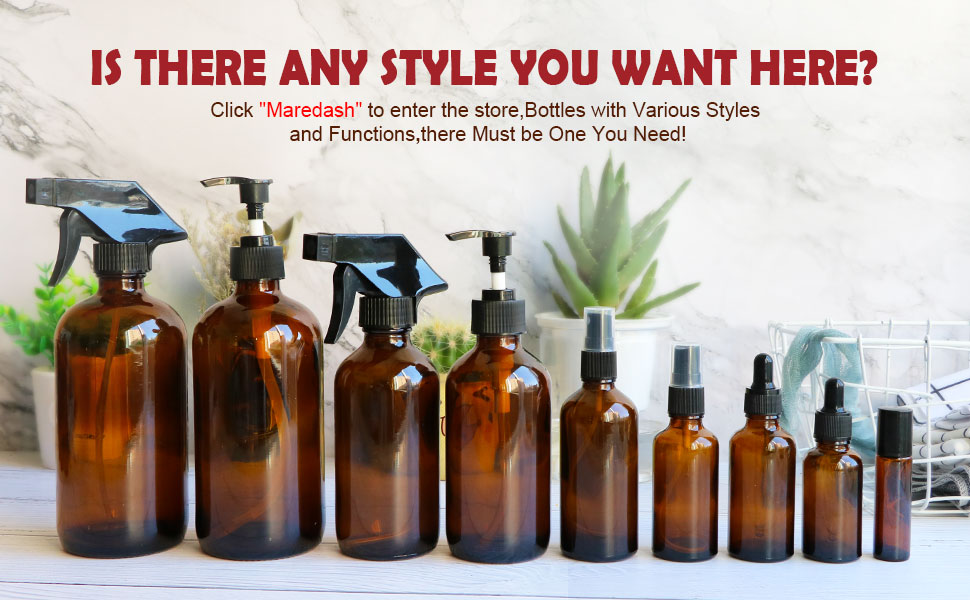Amber Storage Bottles