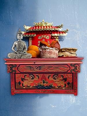 Tibetan Wood Foldable Altar Table for Yoga Meditation Home Decor Buddhist Buddha Sacred Shrine