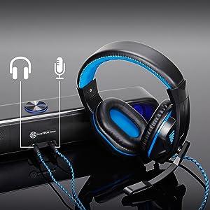 GOgroove Computer Speaker LED Soundbar, SonaVERSE Sense USB Powered LED Speaker for Desktop & Laptop