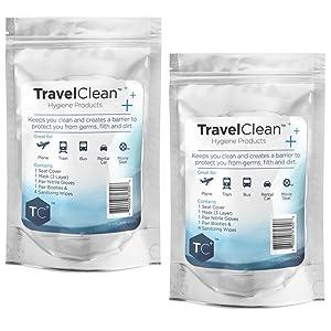 Travel Clean sanitary kit vacation school leisure business travel essentials gift flights