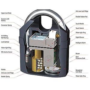 Motion Sensor Alaram Lock for Home,