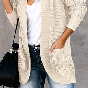 Cocoon cardigan with Pockets