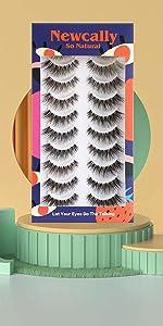 10 pairs cat eye lashes