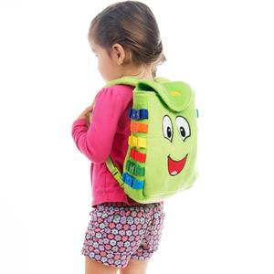 Buckle bag zipper case snap velcro button clip lock toddler learning toy educational fine motor fun