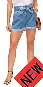 women denim jean shorts