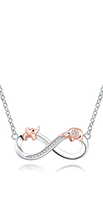 infinity elephant necklace