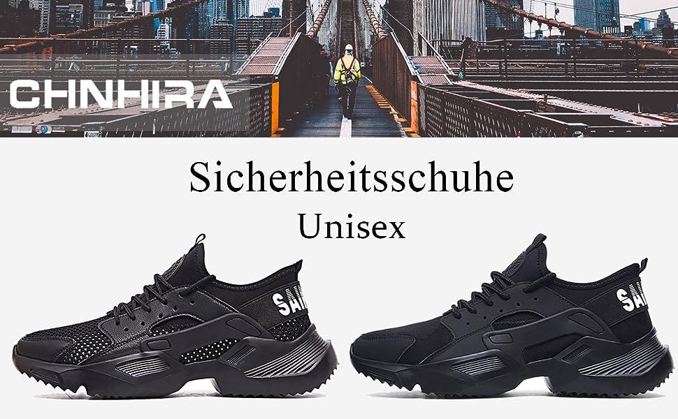 CHNHIRA Arbeitsschuhe Unisex Stahlkappe Elektrisches Schwei/ßen l/ässig Sicherheitsschuhe