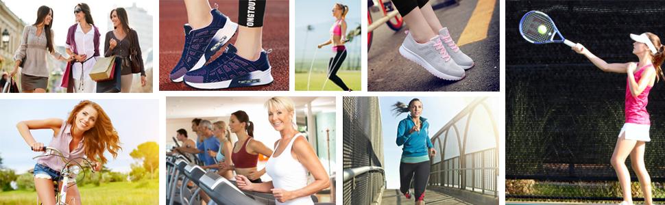 Women Ladies Girls Daily Walking  Shopping Driving Jogging Gym Work Golf Tourism Camping Shoes