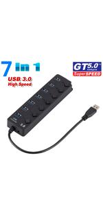 7 Ports USB HUB