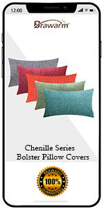 Chenille Bolster Pillow Covers