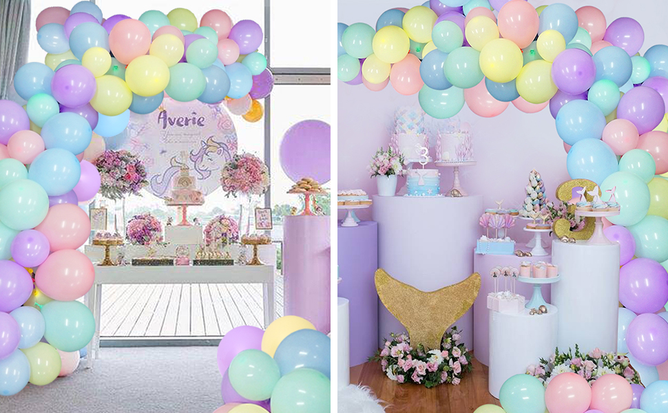 """Birthday Party Latex Balloons 12/"""" Pink Blue Decorations Ages 1-100 Black Pastel"""